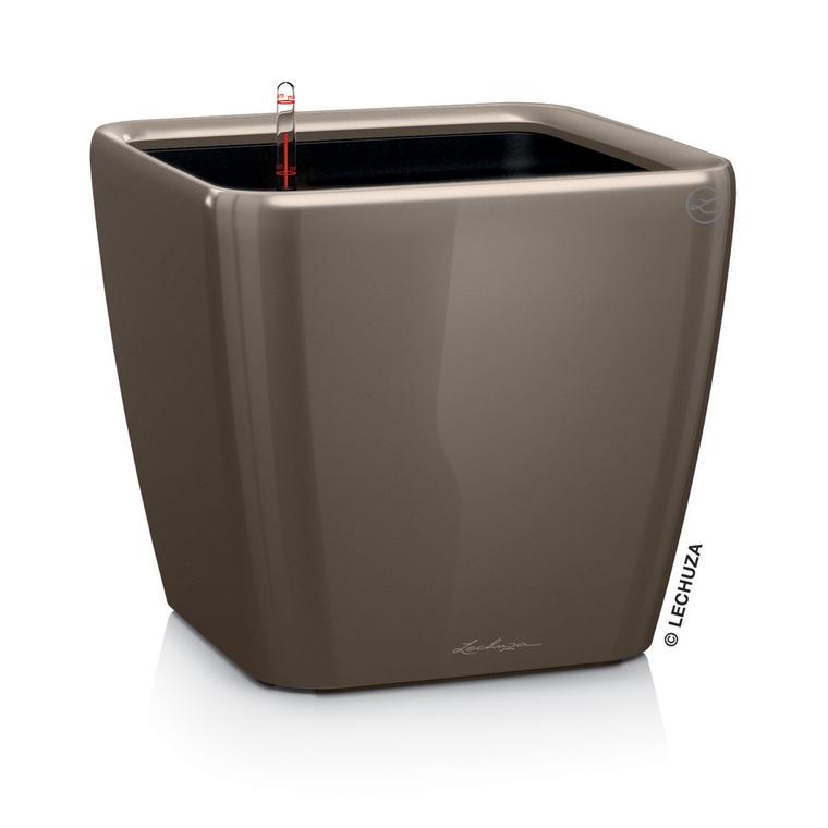 Pot à réserve d'eau Quadro Taupe L.21x21 x H.20 cm 197987