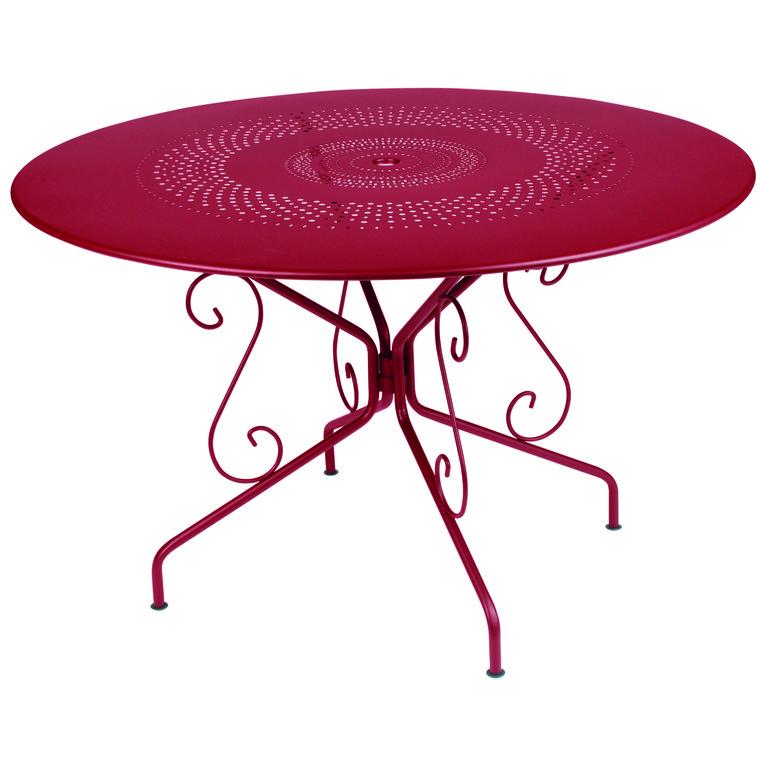Table ronde Montmartre Ø 117 cm : Tables et chaises de jardin FERMOB ...