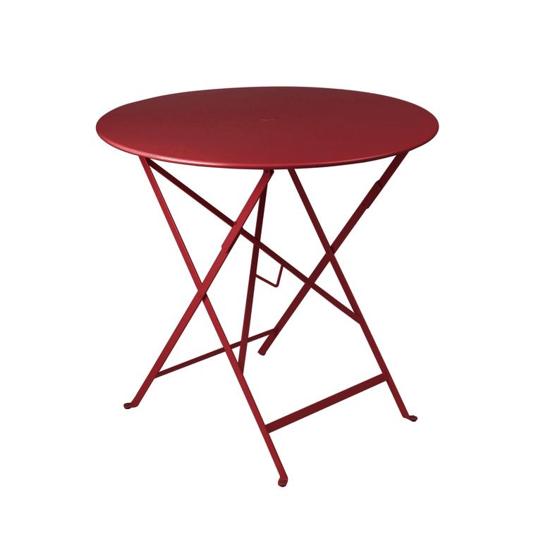 Table pliante ronde couleur Piment 77 x h 74 cm : Tables de jardin ...