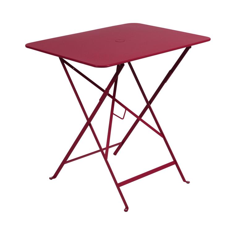 Table pliante rectangulaire couleur Piment L77xl57xh74 : Tables de ...