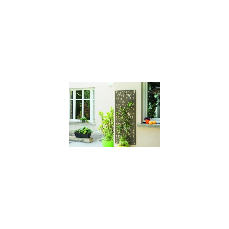 panneau d coratif en m tal panel n 3 motifs feuillage 60 x 150 cm nort ne rootcatalog botanic. Black Bedroom Furniture Sets. Home Design Ideas