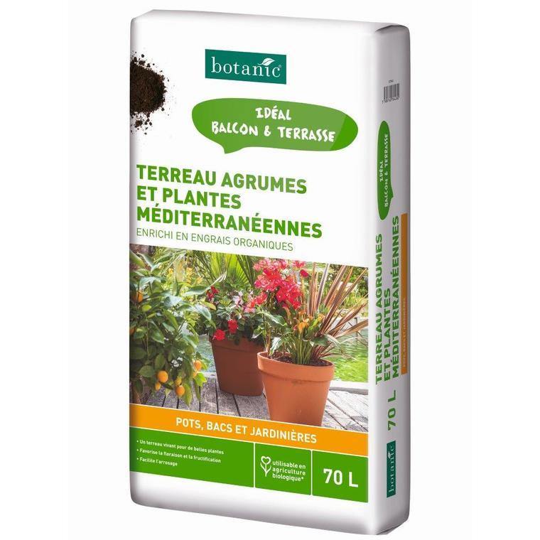 Terreau Agrumes Et Plantes Mediterraneennes 70 L Terreaux