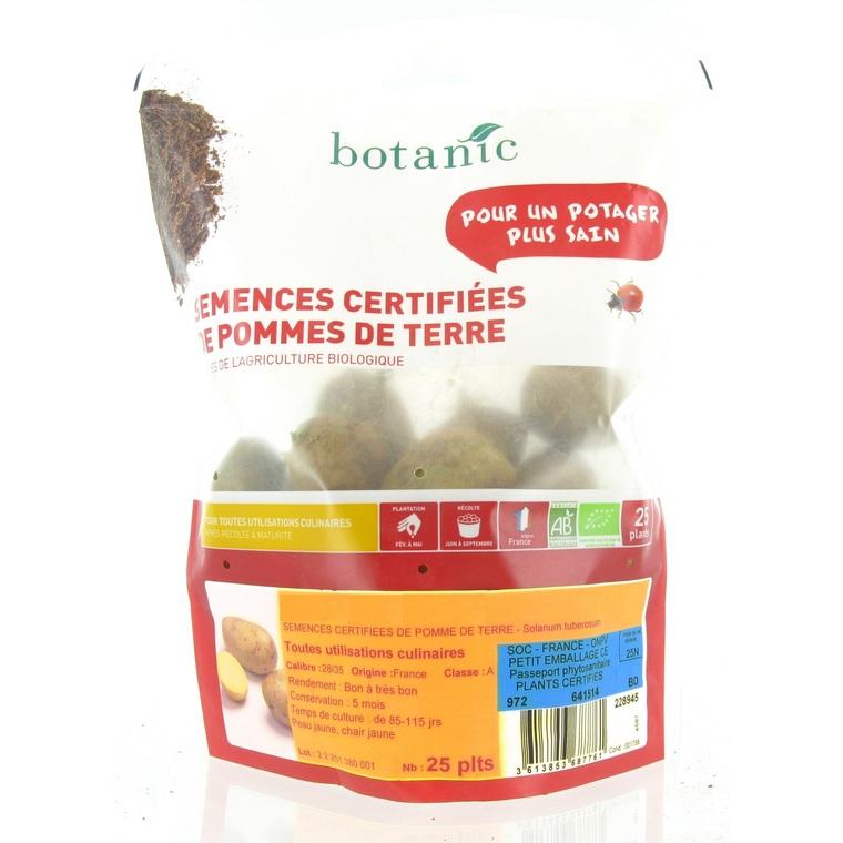 pommes de terre agata bio calibre 0001 25 plants bulbes potagers pommes de terre botanic. Black Bedroom Furniture Sets. Home Design Ideas