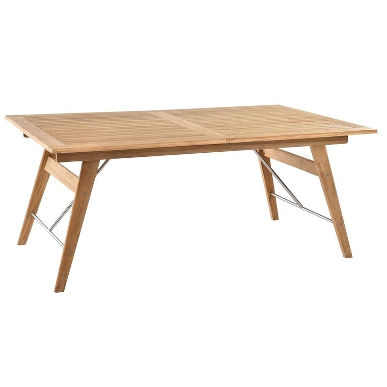Table en teck rectangulaire à rallonges COSTA 180/240 x 110 x 74 cm ...