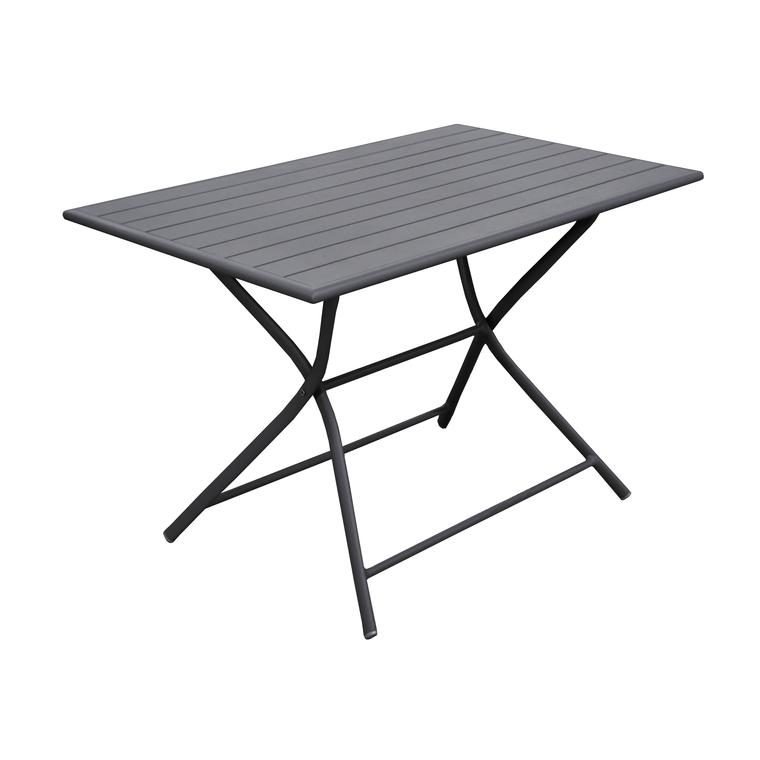 Table MAX rectangulaire aluminium grise 110x70x74 cm ...