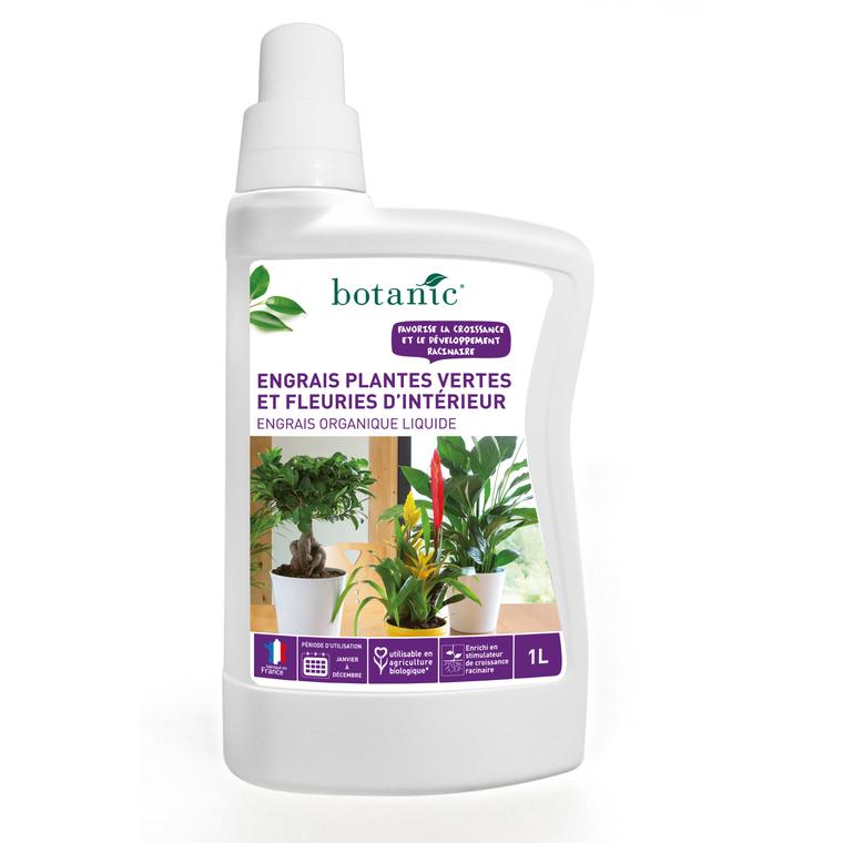 engrais plantes vertes fleuries d 39 int rieur 1 l botanic. Black Bedroom Furniture Sets. Home Design Ideas