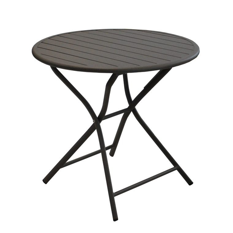 Table MAX ronde aluminium grise D.80 cm : Tables de jardin ...
