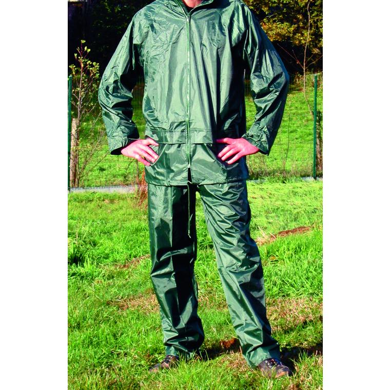 Vêtements de pluie et d'averse verts taille L : Accessoires