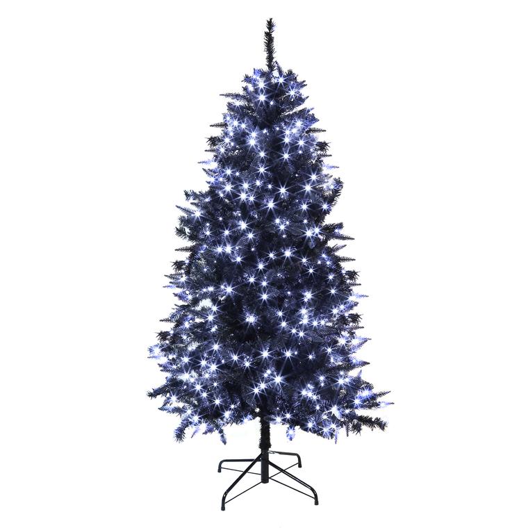 sapin artificiel bi mati re noir 1 80m 590 led blanc festilight rootcatalog botanic. Black Bedroom Furniture Sets. Home Design Ideas