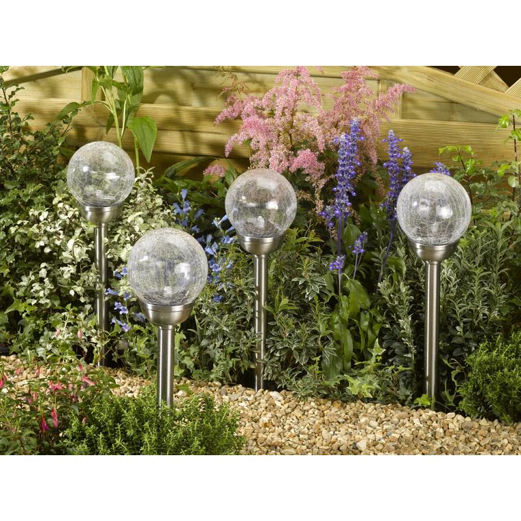 Lampe solaire Majestic en verre : Décoration lumineuse extérieure ...