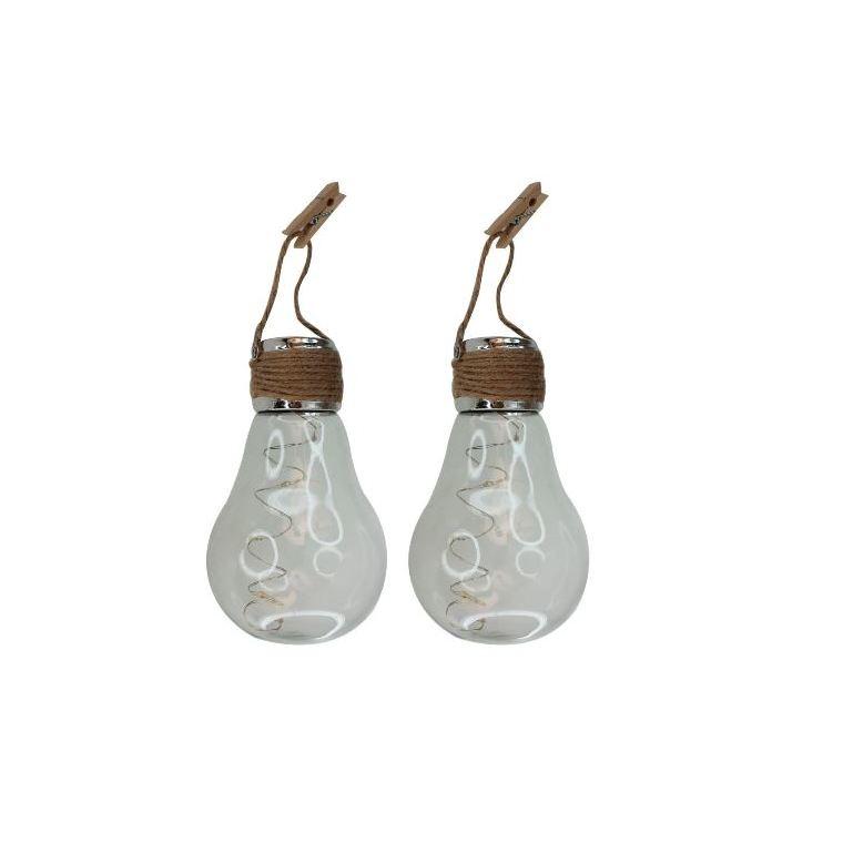 2 ampoules solaires décoratives à suspendre : Eclairage exterieur ...