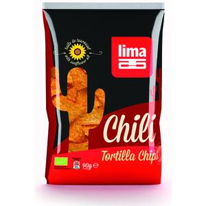 Tortilla chips chili bio en sachet de 90 g 204975