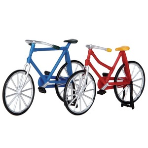Ensemble de 2 Bicyclettes 4,2x6,5 cm Rouge 211544