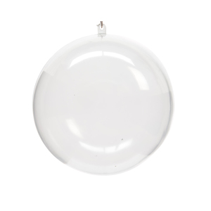 Boîte de 4 boules de Noël plastique transparent à remplir D 6cm 212045