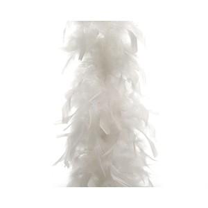 Guirlande boa en plumes blanches - 15x184 cm 212513