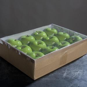 pomme verte  brillante 8 cm 213512