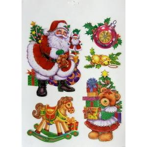 Planche décors de fenêtre à paillettes multicolores 38 x 30 cm 213601