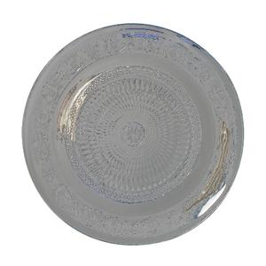 Assiette de présentation en verre décor d'arabesque Ø 33 cm 213906