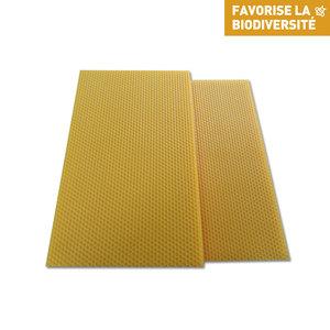 Cire gaufrée conventionnelle pour hausse de ruche 13x41 cm 214744