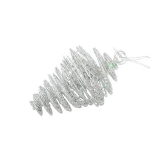 Pomme de pin spirale pailletée à suspendre 215800