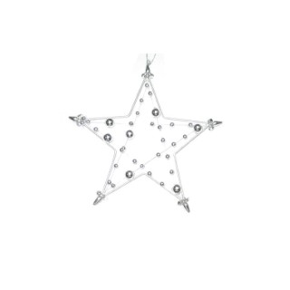 Etoile à suspendre  avec perles 15 cm 215917