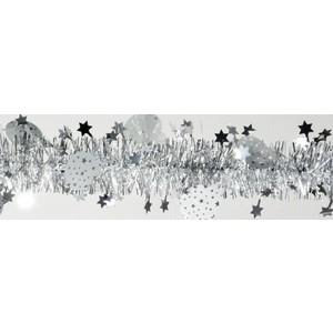 Guirlande blanche avec étoiles et boules de Noël 216003