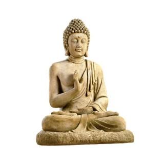 Statue de jardin Bouddha assis H 80 cm 218467