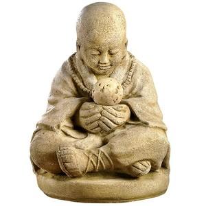 Statue moine assis en boule 218486