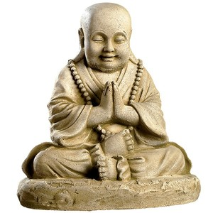 Statue moine assis en boule 218487