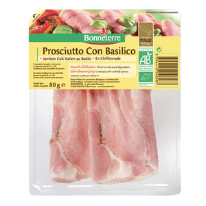 Prosciutton con basilico - Jambon cuit au Basilic en Chiffonnade 80 g BONNETERRE 218544