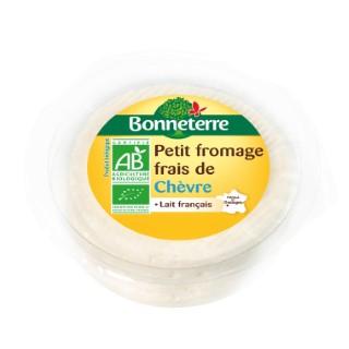 Petit fromage frais de chèvre Bonneterre bio 140 g 218549