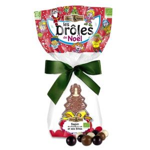 Petit sapin Les drôles et crousty 3 chocolats bio. Le sachet de 80 g 219754
