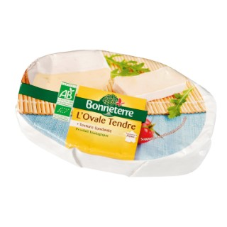 Fromage l'ovale tendre Bonneterre bio 200 g 220159