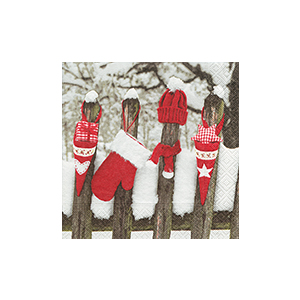 Serviettes x20 3 plis 33x33 cm Outdoor Christmas 222419