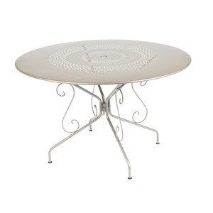 Table de jardin ronde Montmartre Fermob muscade D 117 cm 222663