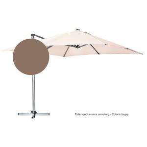 Toile pour parasol déporté 300 cm x 300 cm taupe 223063