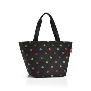 Sac Shopper taille M noir à pois colorés 51x30,5x26 cm 223203