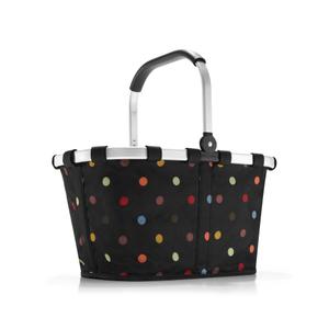 Panier pliant Carrybag noir à pois colorés 48x29x28 cm 223204