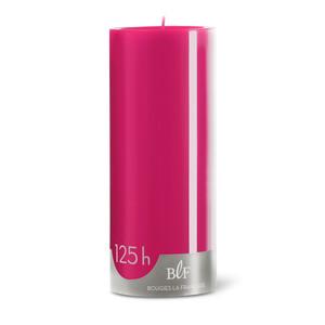 Bougie cylindrique 8x20 cm - Rose Pivoine 223374