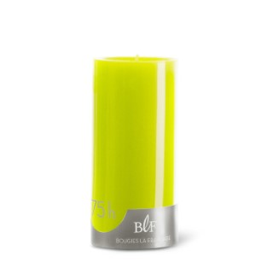 Bougie cylindrique 7x15 cm - Vert anis 223385