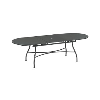 Table de jardin extensible Evo EMU fer ancien 180/240 x 90 x 75 cm 224376