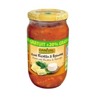 Raviolis Ricotta épinards bio + 20% - 804 gr 225353
