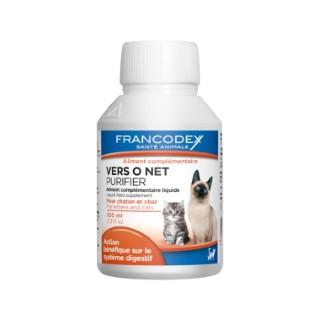 Vermifuge liquide pour chat et chaton Vers O Net - 100 ml 227110