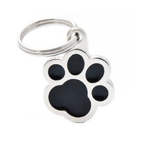 Médaille classic patte noire pour chien en acier 227438