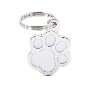 Médaille classic patte blanche pour chien en acier 227439