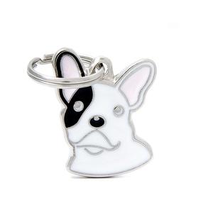 Médaille colors pour bulldog français blanc en métal 227510
