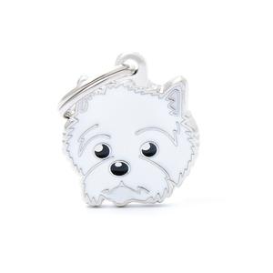 Médaille colors pour west highland white terrier en métal 227550