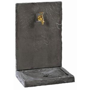 Fontaine aspect Ardoise Gris anthracite en béton coulé 64x45x32 cm 229622