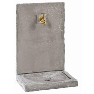 Fontaine Ardoise en béton ciré gris zinc Petit modèle 64x45x32 cm 229625