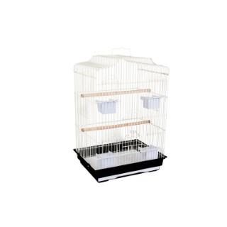 Cage pour oiseaux Zen blanche et noire 47x36x68 cm 230247